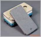 Bao da cầm tay Moto Z2 Play flip leather case, hiệu Vili