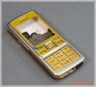 Bộ vỏ Nokia 6300 màu vàng, nắp lưng màu nâu, hàng zin