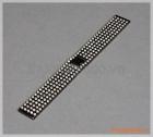 Dây đồng hồ đính kim cương (23mm) màu đen