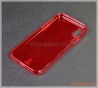 """Ốp lưng silicone iPhone X (5.8""""), màu đỏ nhìn xuyên thấu, Baseus - Pluggy TPU Case"""