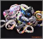 Dây đeo tay thay thế Mi Band 2 (màu sắc thời trang, chất liệu cao su)
