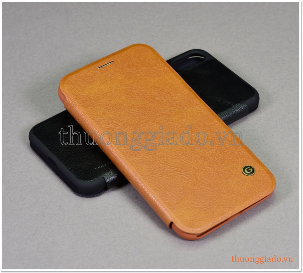"""Bao da iPhone XS Max (6.5""""), bao da cầm tay, nắp gập mở, hiệu G-CASE, Business Series"""