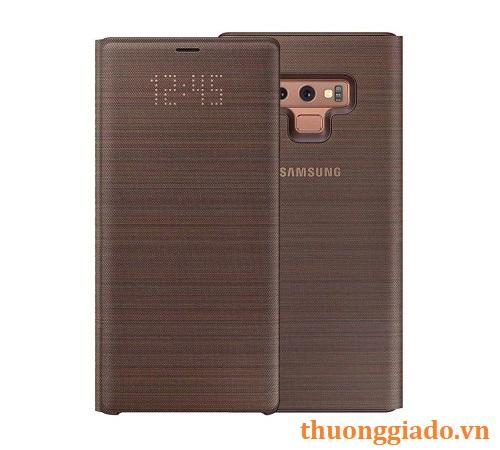 Bao da Led View Samsung Note 9/ N960 màu nâu chính hãng