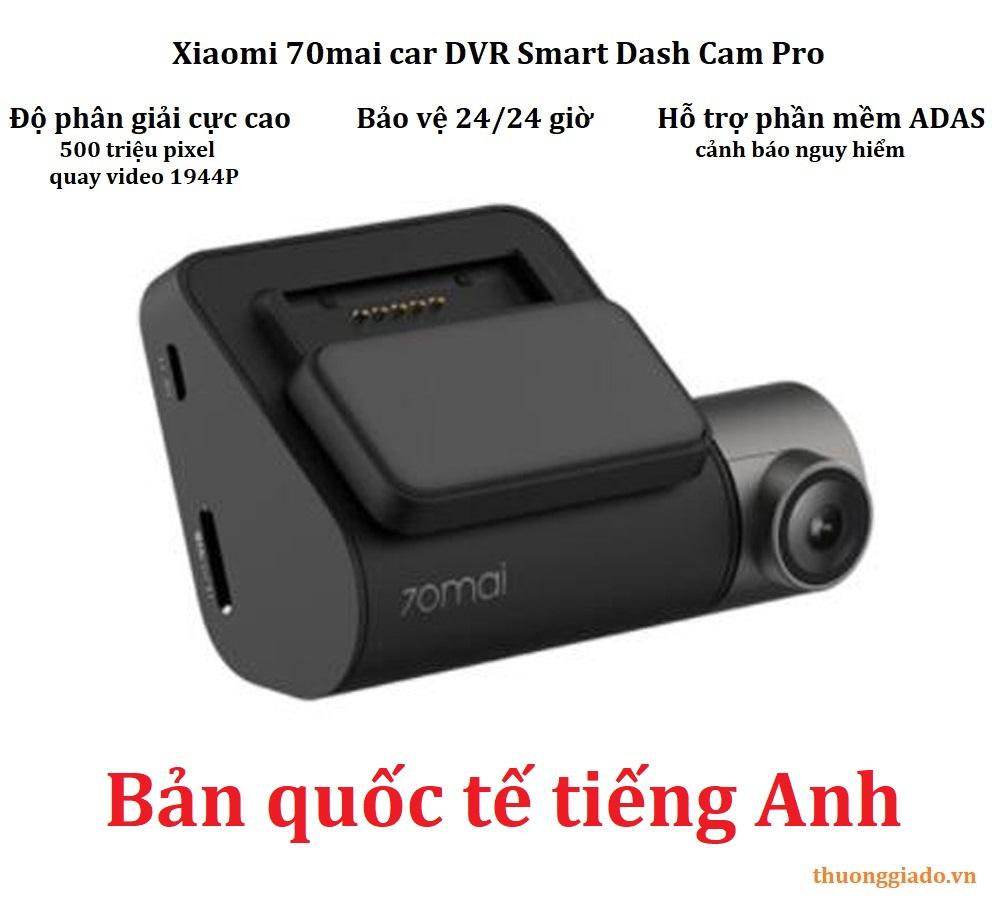 Camera hành trình Xiaomi 70mai Dash Cam Pro (Midrive D02) bản tiếng Anh