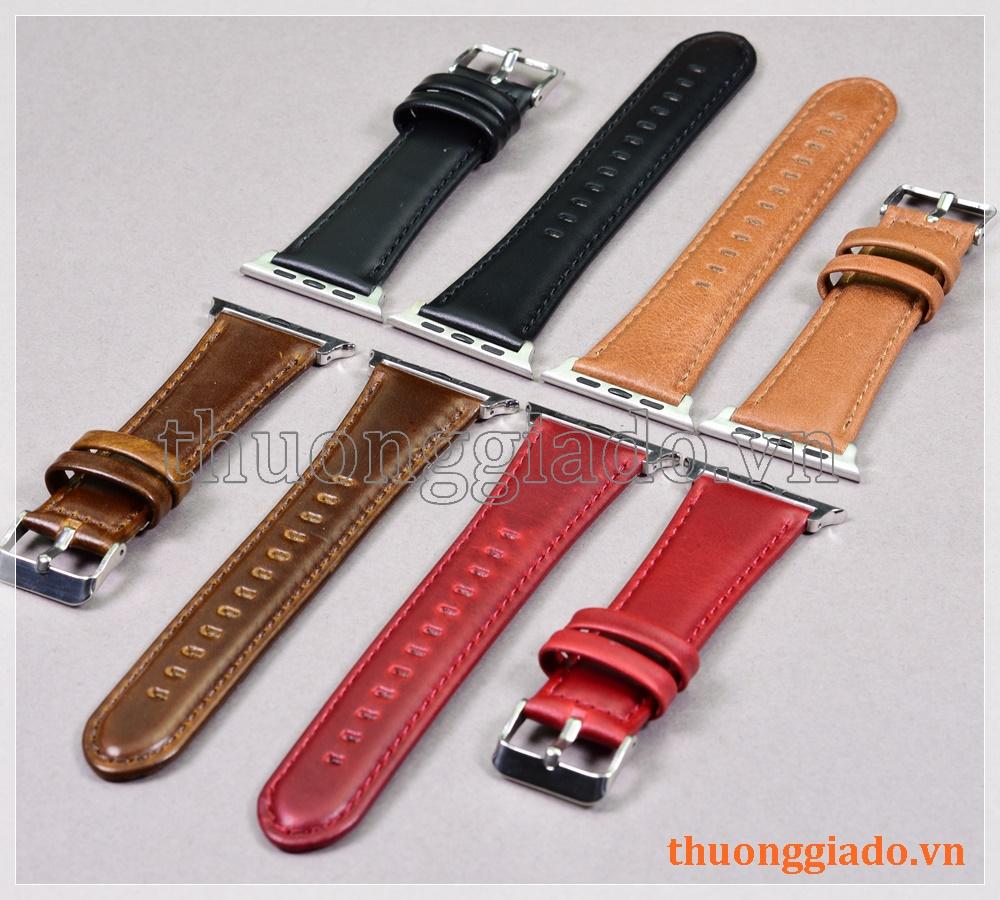 Dây đồng hồ Apple Watch 44mm/ Apple Watch 42mm (chất liệu da bò, nhiều màu)
