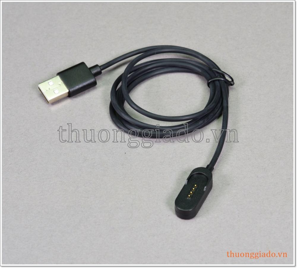 Cáp sạc usb đầu hít từ tính cho tai nghe bluetooth Huawei (chuẩn chân sạc Pogo)