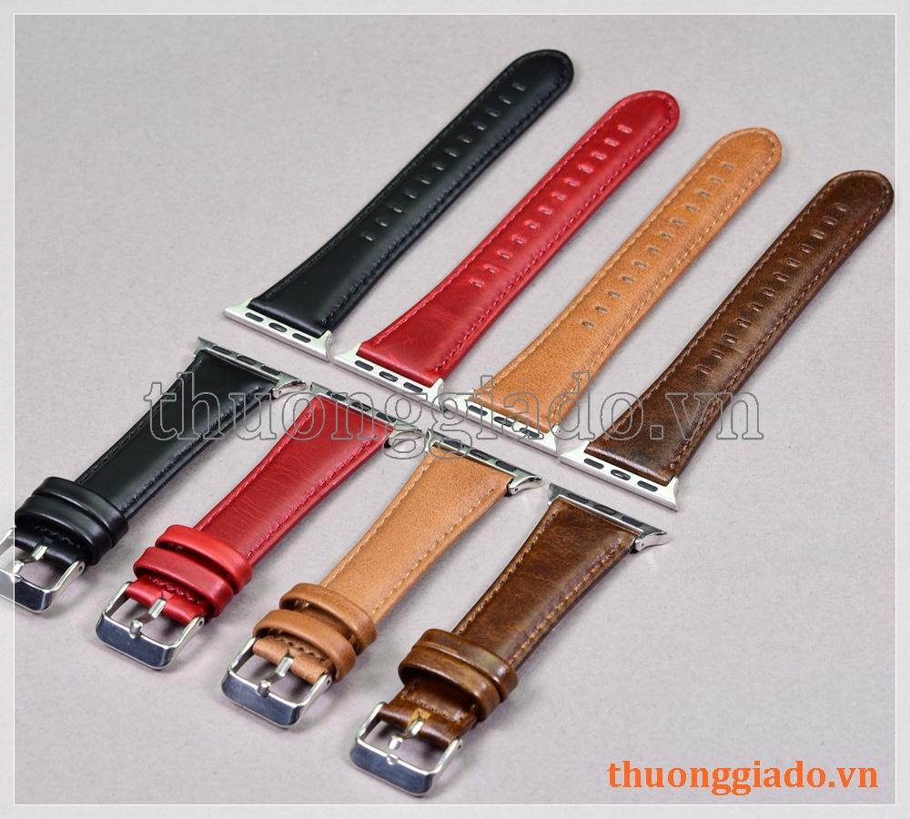 Dây đồng hồ Apple Watch 40mm/ Apple Watch 38mm (chất liệu da bò, nhiều màu)