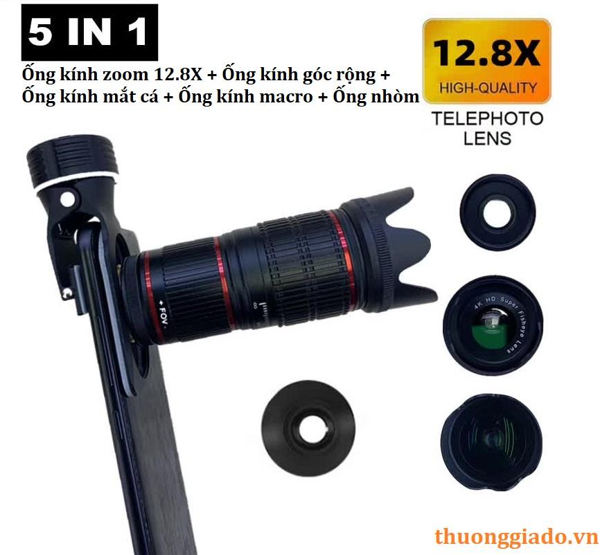 Bộ lens HX-1280 đa năng cho điện thoại (5 in 1 telephoto lens kit)