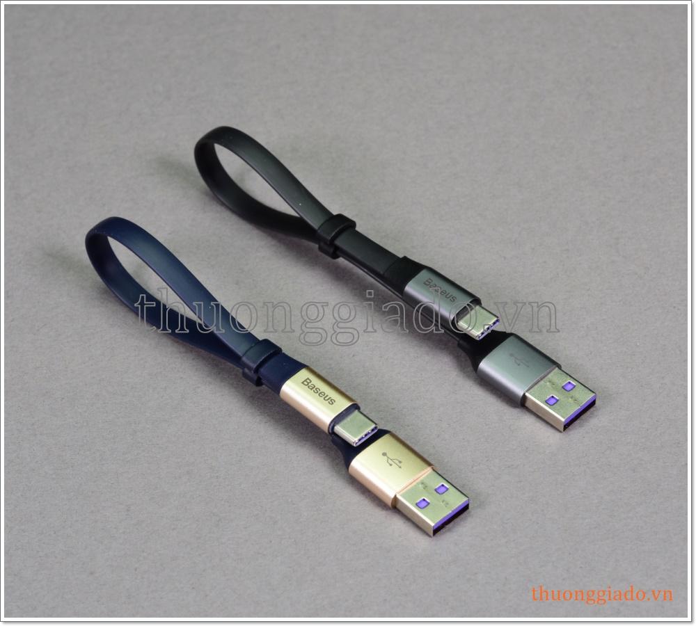 Cáp sạc usb-c cho Huawei loại ngắn (hỗ trợ sạc nhanh, max 5A) hiệu Baseus