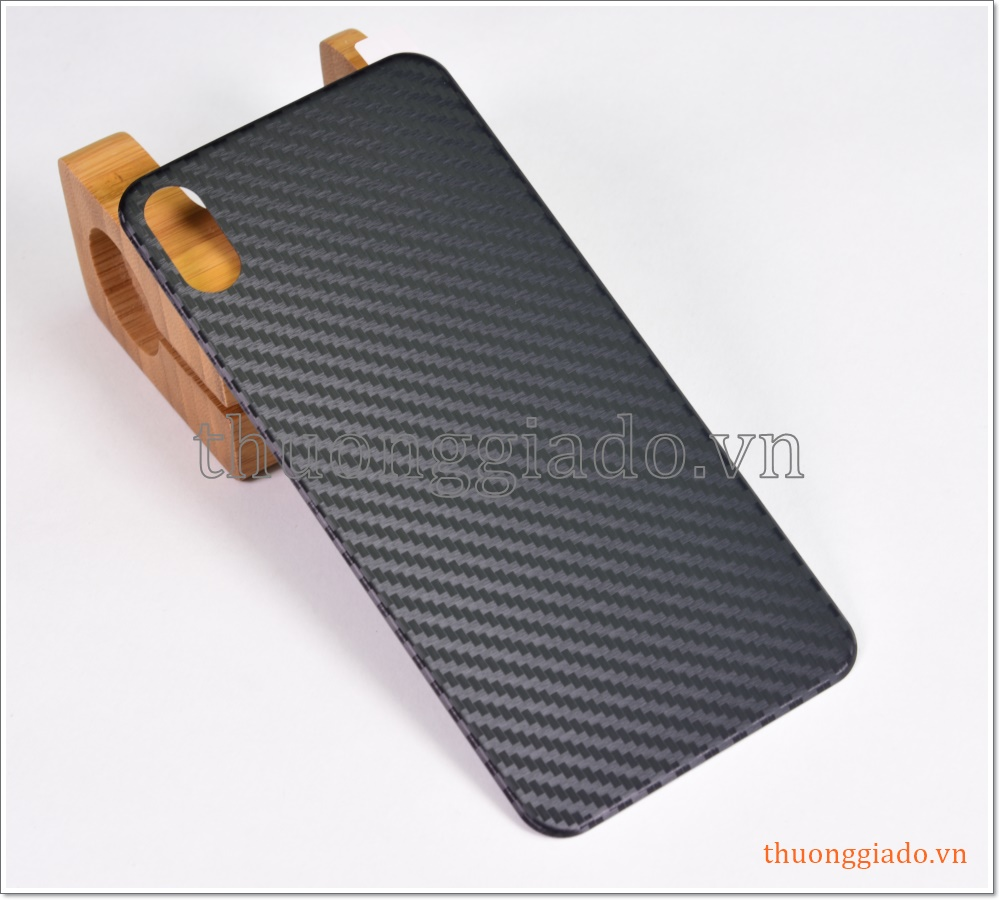 Miếng dán lưng iPhone Xs Max (vân Carbon)