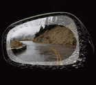 Miếng dán chống đọng nước gương ô tô (hiệu Baseus, 02 miếng, cỡ 150x100mm)