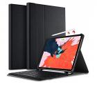 Bàn phím bluetooth iPad Pro 11 inch, kèm bao da, có ngăn đựng bút