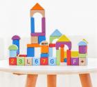 Bộ đồ chơi xếp hình chất liệu gỗ Xiaomi BEVA (60 khối)