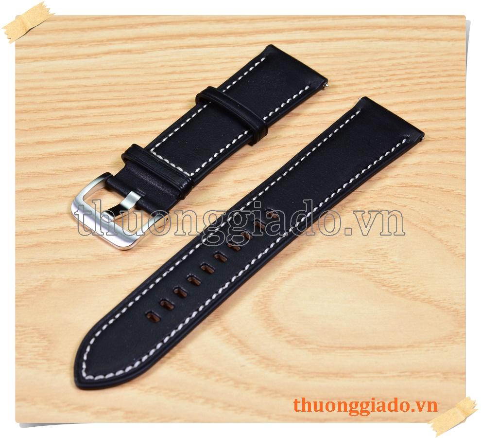 Dây da thay thế cho đồng hồ Samsung Galaxy Watch 3 45mm (22mm) chính hãng