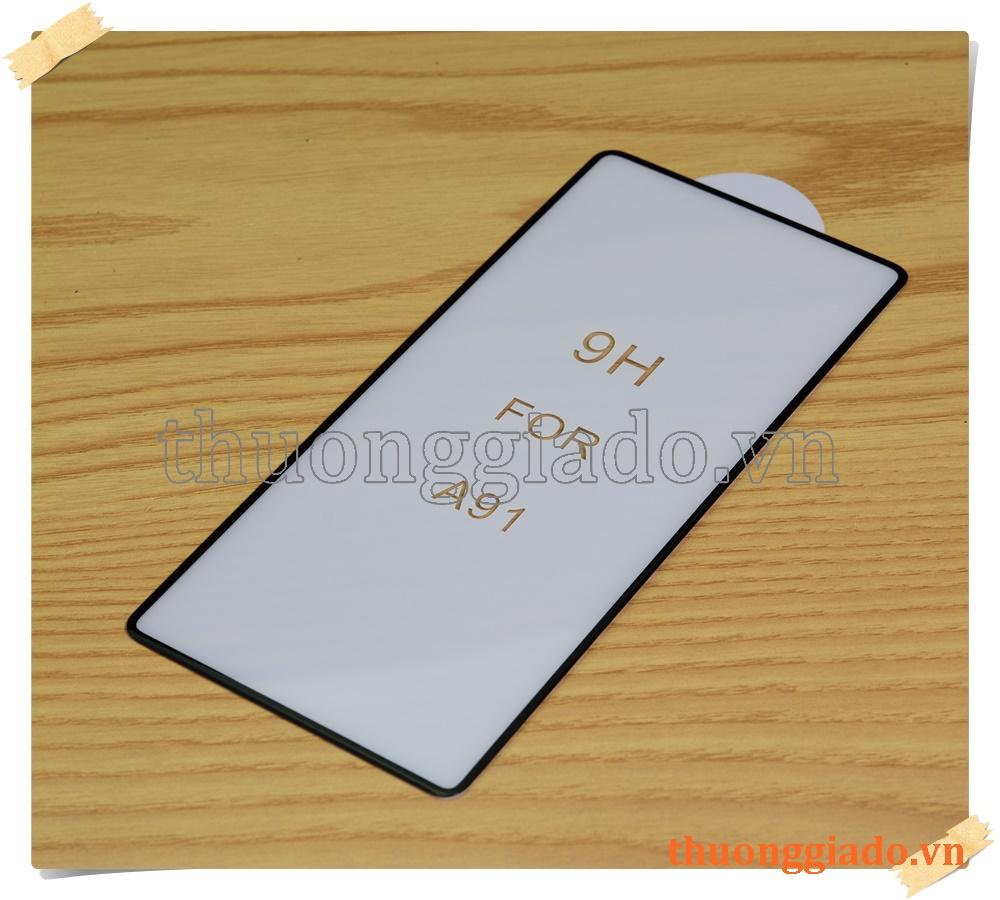 Miếng dán kính cường lực Samsung A91, dán full màn hình, loại 5D