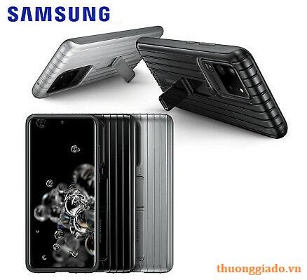 Ốp lưng bảo vệ Samsung Galaxy S20 Ultra Protective Standing Cover chính hãng (EF-RG988CSEG)