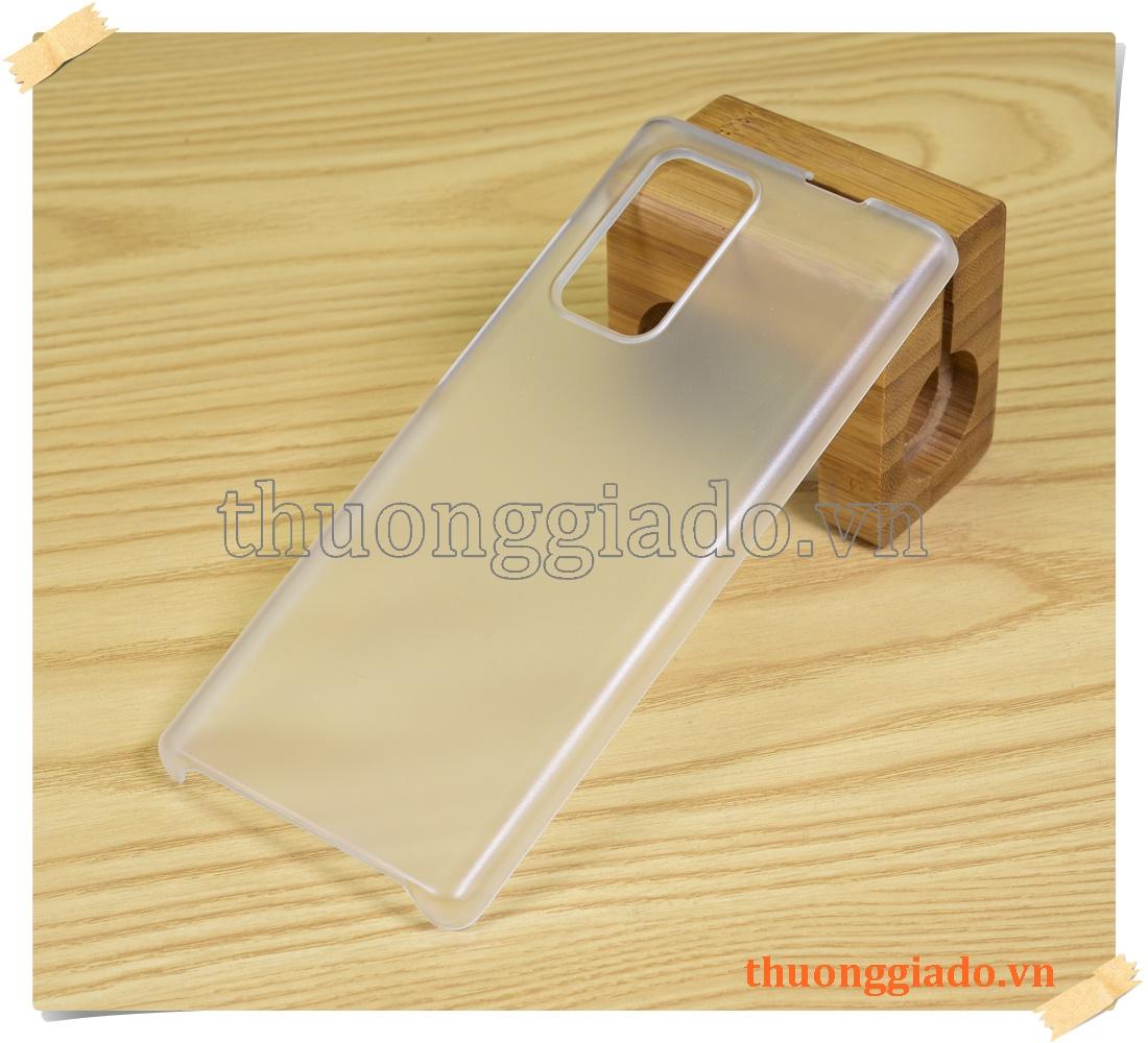 Ốp lưng LG Wing 5G (ốp nhựa cứng trắng nhám mờ)