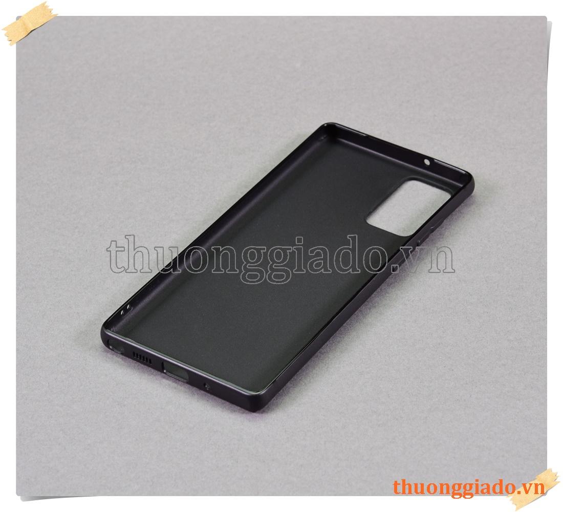 Samsung Galaxy Note 20, SM-N980, - Vỏ ốp lưng silicone màu đen (hiệu Vu Case)