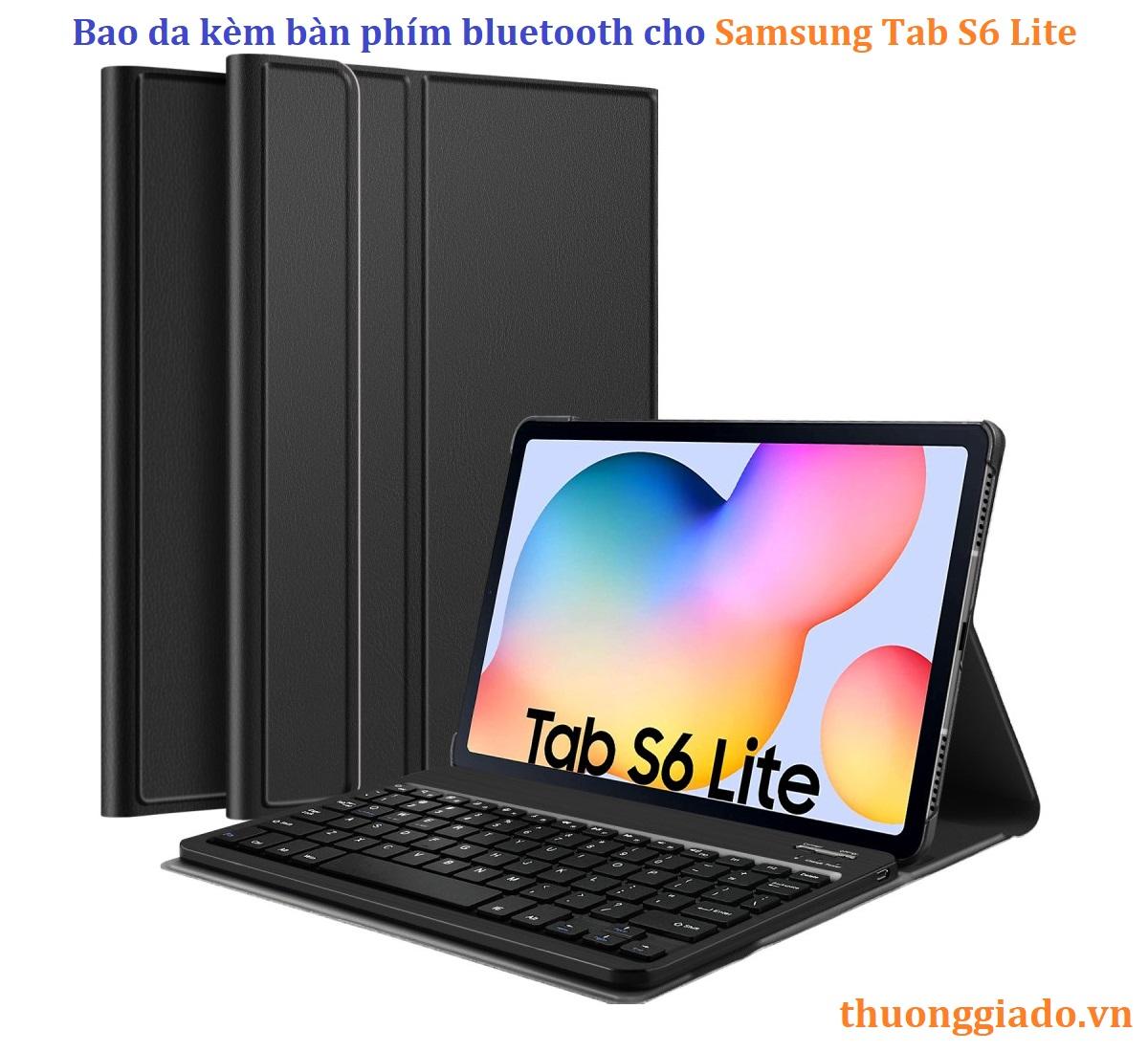 Samsung Galaxy Tab S6 Lite - Bao da kèm bàn phím bluetooth