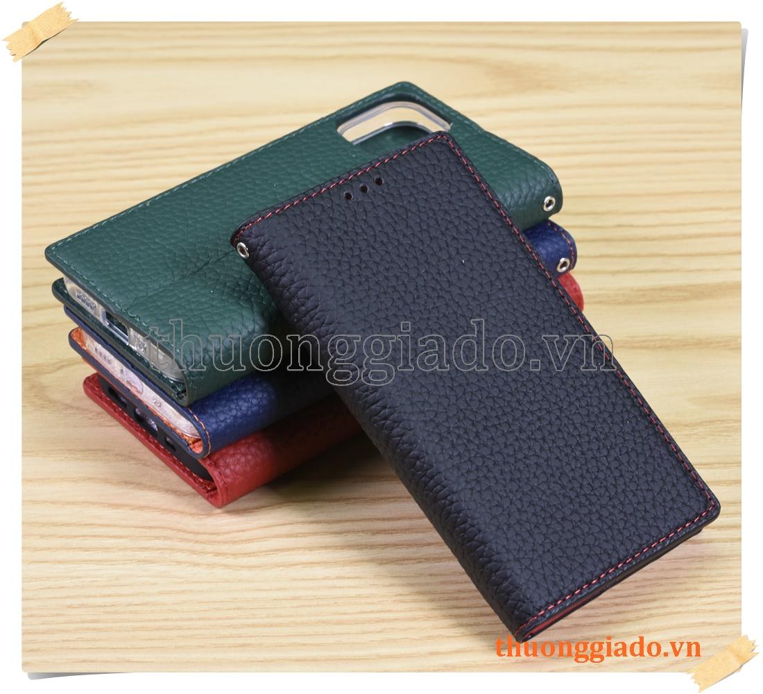 Bao da cầm tay iPhone 12 mini (chất liệu da bò)