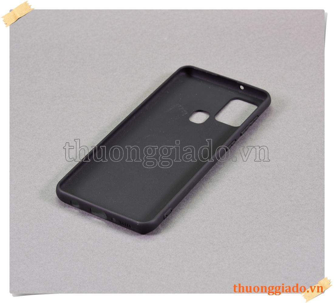 Samsung Galaxy A21s - Vỏ ốp lưng silicone màu đen (hiệu Vu Case)