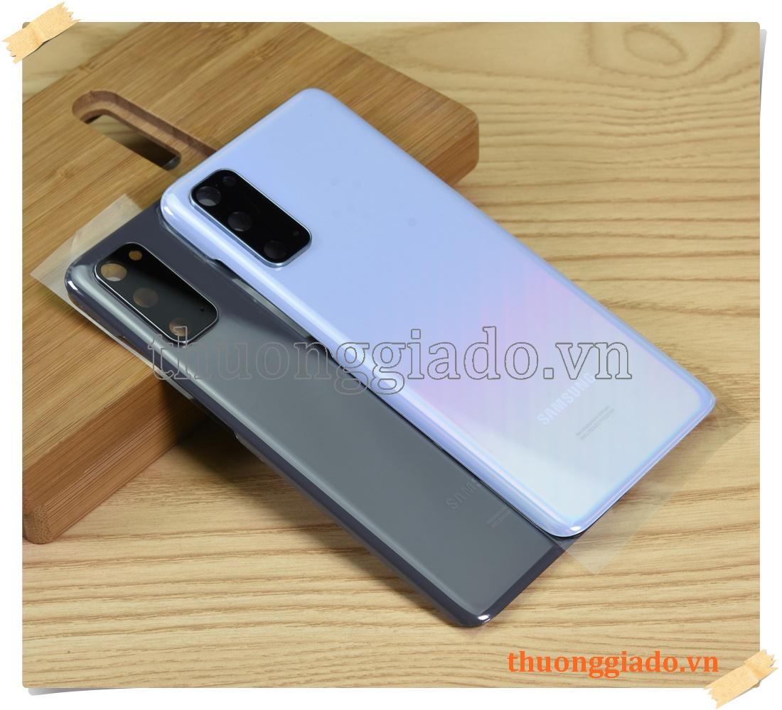 Thay kính lưng Samsung Galaxy S20 G980 (hàng zin tháo máy, kèm kính camera sau)